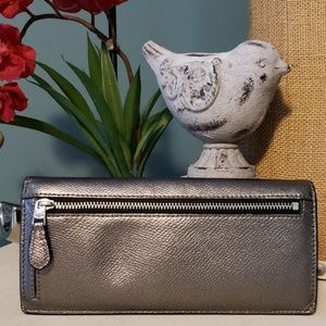 Coach Bags - 💖 COACH Metallic Slim Envelope Wallet